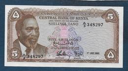 KENYA - Billet De 5 Shillings Du 1 July 1966 - Kenia