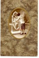 Photo Portrait D Art Pcéguillier Ernee Mayenne Femme Miroir Interieur 27,5x18,5 Cm - Personnes Anonymes