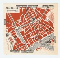 CARTE PLAN 1960 - CHALONS SUR SAONE - MUSÉE SAINT PIERRE TOUR DU DOYENNÉ HOPITAL - Mapas Topográficas