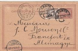 Egypte Entier Postal Tanta Pour L'Allemagne 1905 - Egipto