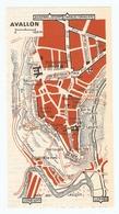 CARTE PLAN 1960 - AVALLON - COUSIN LE PONT LES PETITS TERREAUX TOUR BEURDELAINE - Mapas Topográficas