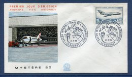 France - FDC - Premier Jour - Poste Aérienne - YT PA N° 42 - Mystère 20 - 1965 - FDC