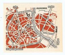 CARTE PLAN 1960 - AUXERRE - ANCIENNE ABBAYE TOUR DE L'HORLOGE SAINT EUSEBE - Mapas Topográficas