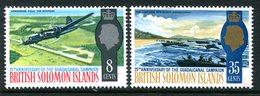 British Solomon Islands 1967 25th Anniversary Of Guadalcanal Campaign Set MNH (SG 160-161) - Iles Salomon (...-1978)
