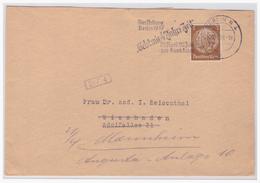 Dt- Reich (004748) Brief Mit Werbestempel Und Firmenlochung PR, Gebt Mir 4 Jahre Zeit, Gelaufen Berlin Am 30.4.1937 - Germany