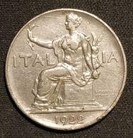 ITALIE - 1 LIRE 1922 - Victor-Emmanuel III - KM 62 - 1900-1946 : Victor Emmanuel III & Umberto II