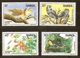 Rwanda Ruanda 1985 Yvertn°  1245-1248  *** MNH Cote 27,50 Euro   Oiseaux Vogels Birds Audubon - 1980-89: Neufs