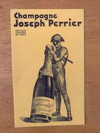 1 BUVARD CHAMPAGNE JOSEPH PERRIER - Licores & Cervezas