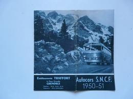 VIEUX PAPIERS - ETS TRAFFORT - Grenoble : AUTOCARS SNCF 1950-51 - Europe