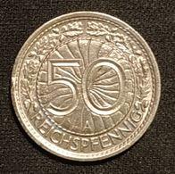 ALLEMAGNE - 50 Reichspfennig ( Pfennig ) - 1928 A - KM 49 - 50 Rentenpfennig & 50 Reichspfennig