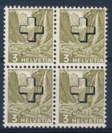 HELVETIA - Dienstmarken/Timbres De Service: - Mi Nr 28y (Viererblock) - MNH** - Oficial