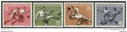 Liechtenstein 1954. Michel #322/25 MNH/Luxe. Sport. Soccer. WC-1954 Switzerland. (Ts22) - 1954 – Schweiz