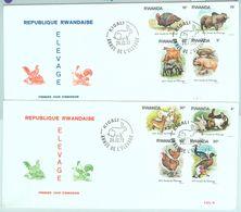 84462 - RWANDA - Postal History -  2 FDC COVERS 1978  Farm Animals CHICKEN Ducks - Ruanda