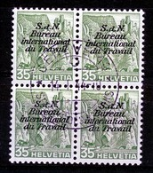 Dienstmarken/Timbres De Service: B.I.T .- Mi Nr 46y (Viererblock) - Gest./obl. - Dienstzegels
