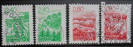 14  Régions Françaises  2949 2950 2951 2952  Bretagne Vosges Auvergne Camargue   Oblitéré - France
