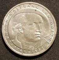 ALLEMAGNE - 5 DEUTSCHE MARK 1982 - Johann Wolfgang Von Goethe - KM 156 - [ 7] 1949-… : RFA - Rép. Féd. D'Allemagne