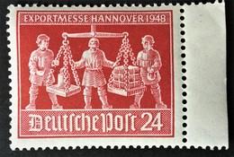 1948  Exportmesse Hannover Mit Plattenfehler IV (Kette Unten Der Faust Des Linken Mannes Gebrochen Mi. 969 IV**) - American,British And Russian Zone
