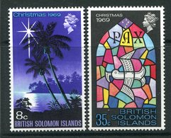 British Solomon Islands 1969 Christmas Set MNH (SG 189-190) - Salomonen (...-1978)