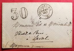 Calvados-Enveloppe Avec Cachet De Trouville-Taxe 30 - Marcophilie (Lettres)