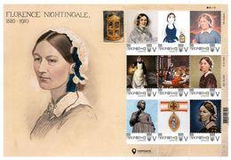 Ukraine 2019, England Medicine, Nurse Florence Nightingale, Sheetlet Of 9v - Ukraine