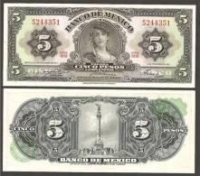 MESSICO (MEXICO)  : 5 Pesos - 1963 - P60 - UNC - Mexiko