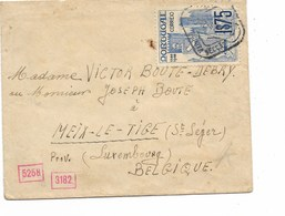 """SH 0504. PORTUGAL N° Yv.615 S/petite Lettre De 1941 à MEIX-LE-TIGE (St LEGER - B).Censures Dont Ind.""""d"""" Au Dos. - Brieven"""