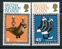 British Solomon Islands 1971 Christmas Set MNH (SG 213-214) - Salomonen (...-1978)