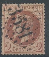 Lot N°55551   Variété/n°26A, Oblit GC 3581 St-Etienne, Loire (84), Taches Blanches Face Au Visage, Filet OUEST - 1863-1870 Napoleon III With Laurels