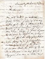 1814 BEAUVAIS L.A.S. De FLORANS à M.MARTIN, Propriétaire à BEDION (84) GARDE DU CORPS DU ROI - Historische Documenten