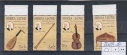 Sierra Leone Michel Cat.No. Mnh/** 836/839 Music - Sierra Leone (1961-...)