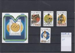 Sierra Leone Michel Cat.No. Mnh/** 997/1000 + Sheet 61 Olympia - Sierra Leone (1961-...)