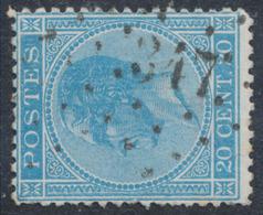 "émission 1865 - N°18 Obl Pt 347 ""Scheldewindeke"" / COBA : 30 - 1865-1866 Linksprofil"