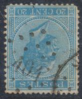 """émission 1865 - N°18 Obl Pt 404 """"Wuestwezel"""" / COBA : 40 - 1865-1866 Profile Left"""