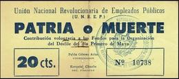 BONO DE CONTRIBUCIÓN. REVOLUCIÓN CUBANA - Cuba