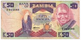 LOT035 - Banknote Zambia 50 Fifty Kwacha Bank 1986/1988 Circulated - Zambia