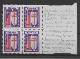 """Espagne N°727 - Variété 1""""0"""" Fermé - Neuf ** Sans Charnière - TB - 1931-50 Unused Stamps"""