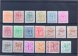 Nrs. S47/S56  ** Postgaaf  + Heraldieke Leeuw >50 Côte Papiersoorten - Dienstzegels