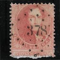 Belgique N°16A - Variété Piquage à Cheval - Sur Fragment - TB - 1863-1864 Médaillons (13/16)