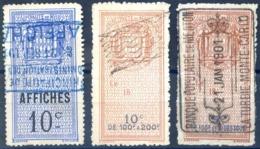 Monaco - FISCAUX - Lot De 3 Timbres Oblitérés - (F006) - Revenue