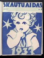 Lithuanian Magazine / Skautu Aidas 1937 Complete - Livres, BD, Revues