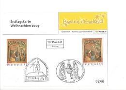 24836 - Christkindl 2007 PostKarte Weihnachten 23.11.2007 + Cachet St.Gabriel Klagenfurt - Natale