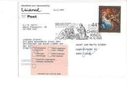 24840  - Christkindl 1999 PostKarte Gewidmet Von Sponsored By Universal Pour Liezen 16.12.1999 - Natale