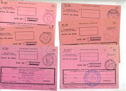 Lot 6 Recepissé 515 Cachet Vesoul Saint Loup Ronchamp - Documents De La Poste