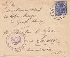Env Affr Michel 87 Obl LUTTERBACH Du 14.5.15 Adressée à Genève - Marcofilia (sobres)