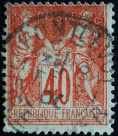 -Sage N°94 Type Ll.(CAD) O PONTLEVOY ( 40) - 1876-1898 Sage (Type II)
