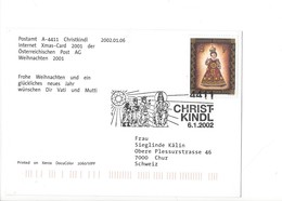 24847  - Christkindl 2002 PostKarte 06.01.2002 Pour Chur Merry Christmas And A Happy New Year - Christmas