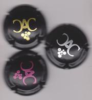 Capsule Champagne DEVILLE Pierre ( 8,8a,8b ; 3 Capsules Noires Mat : Or ; Argent Et Rose ) 4,50€ {S21-20} - Champagne