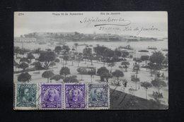BRÉSIL - Affranchissement Plaisant De Rio De Janeiro Sur Carte Postale Pour La France En 1910 - L 60878 - Briefe U. Dokumente