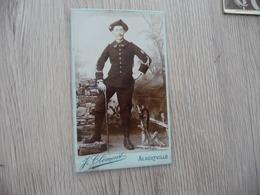 Photo Originale CDV Guerre Militaire Clément Alberville Officier Sabre Chasseur Alpin 22 Au Col - War, Military