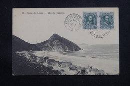 BRÉSIL - Affranchissement Plaisant De Rio De Janeiro Sur Carte Postale Pour La France En 1911 - L 60880 - Briefe U. Dokumente